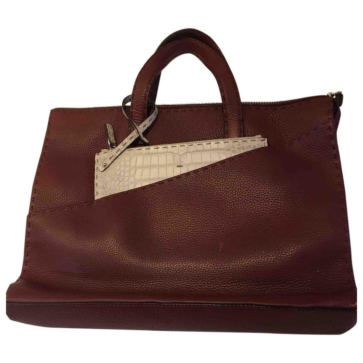 Fendi \N Brown Leather bag for Men \N
