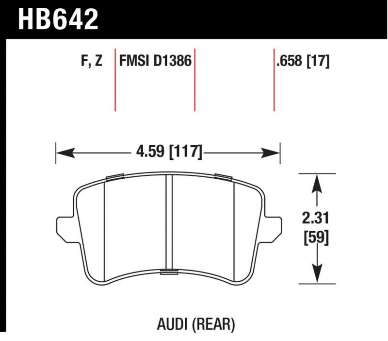 Hawk Performance HB642F.658 Disc Brake Pad Audi Rear