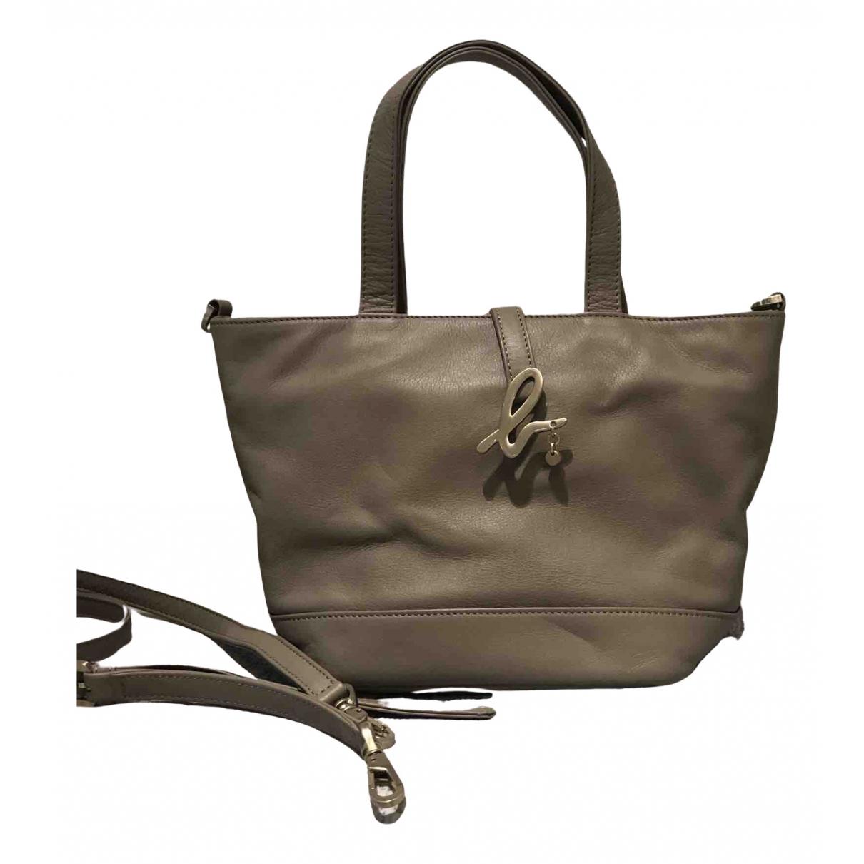 Agnès B. \N Grey Leather handbag for Women \N