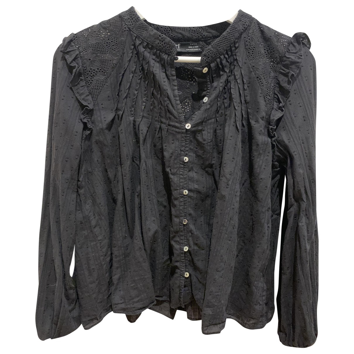 Zara \N Black Cotton  top for Women M International