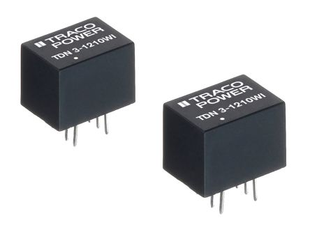 TRACOPOWER TDN 3WI 3W Isolated DC-DC Converter Through Hole, Voltage in 9 → 36 V dc, Voltage out ±15V dc