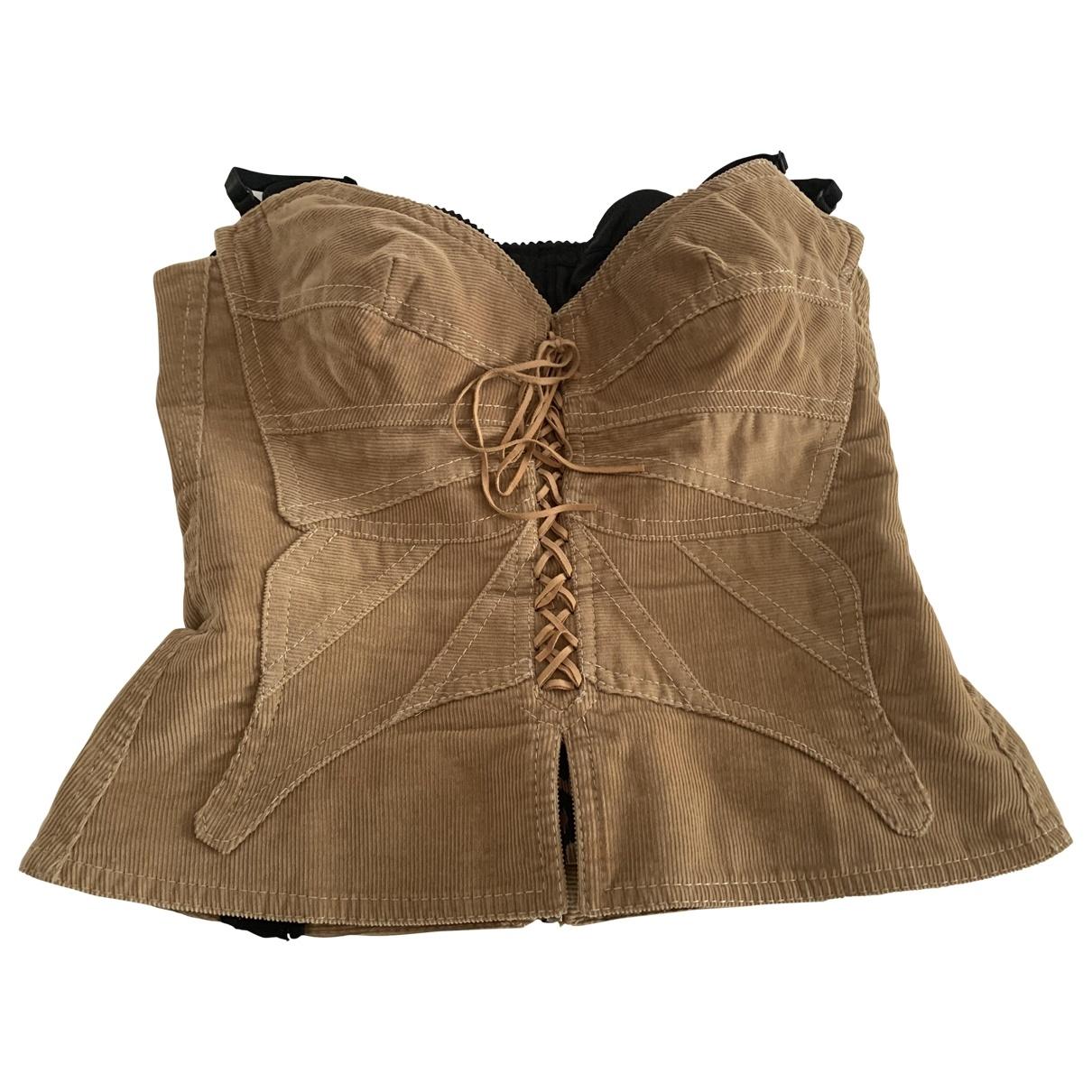 Dolce & Gabbana \N Beige Velvet  top for Women 40 IT