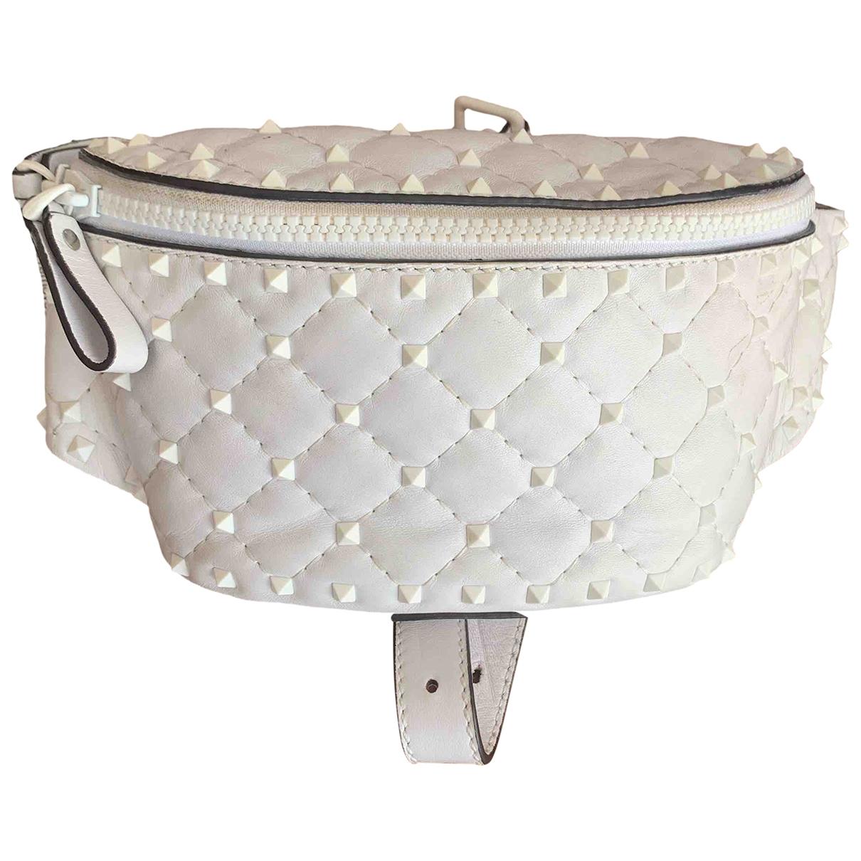 Valentino Garavani Rockstud spike White Leather Clutch bag for Women \N