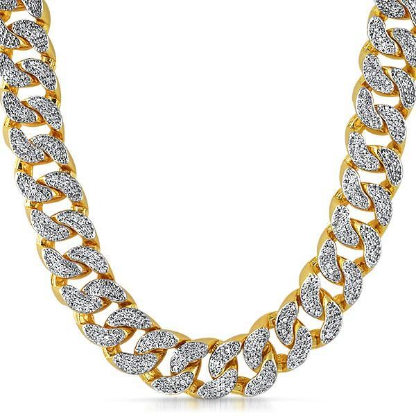 22MM Thick Gold CZ Cuban Chain Bling Bling