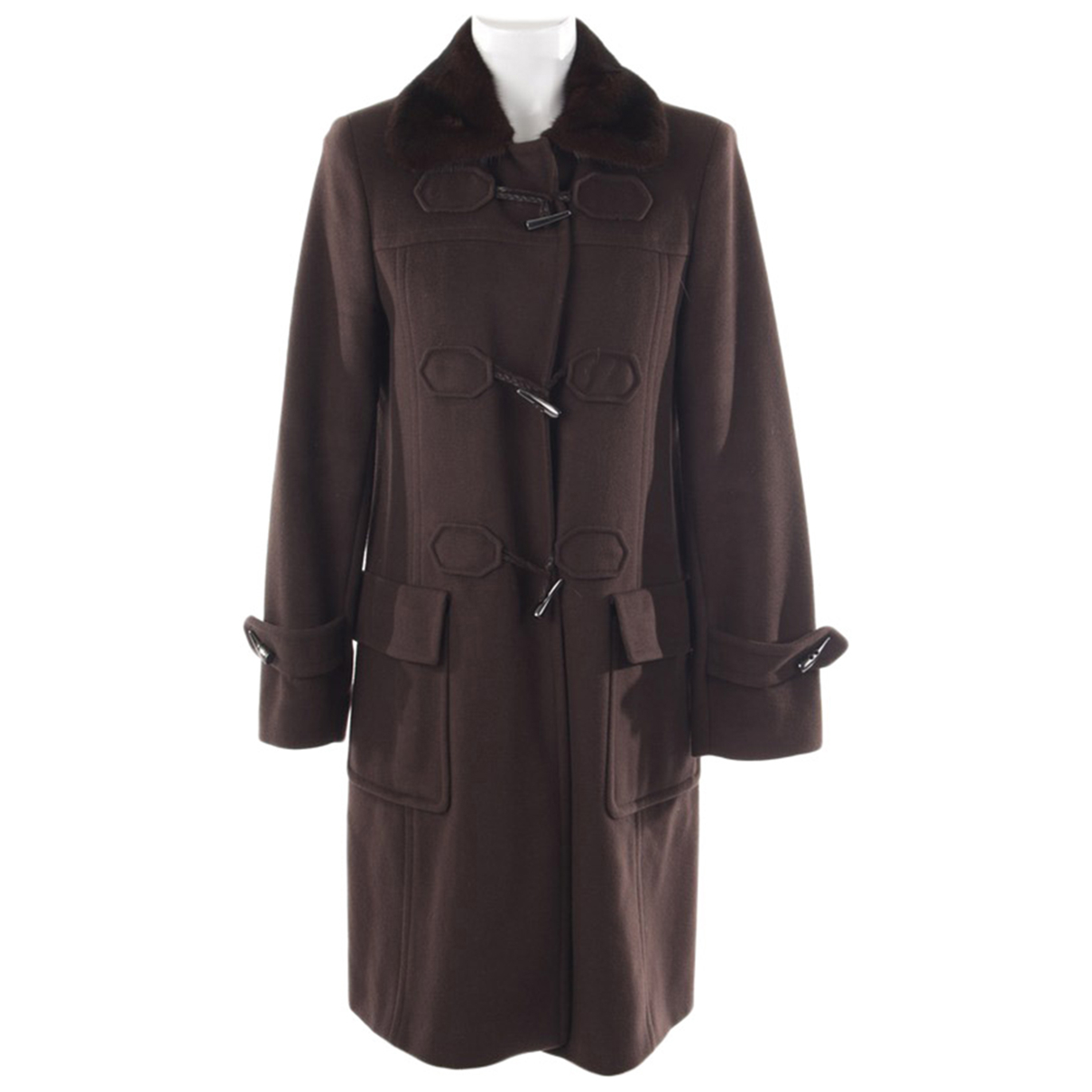 Autre Marque \N Brown Wool jacket for Women 38 FR