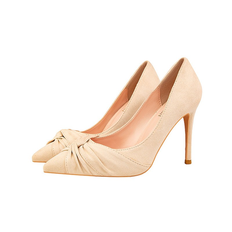 Ericdress Thread Pointed Toe Stiletto Heel Plain Thin Shoes