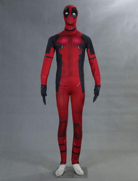 Milanoo Marvel Comics Deadpool Cosplay Costum Marvel Super Hero Lycra Spandex Zentai