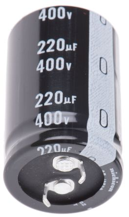 Nichicon 220μF Electrolytic Capacitor 400V dc, Through Hole - LGU2G221MELA