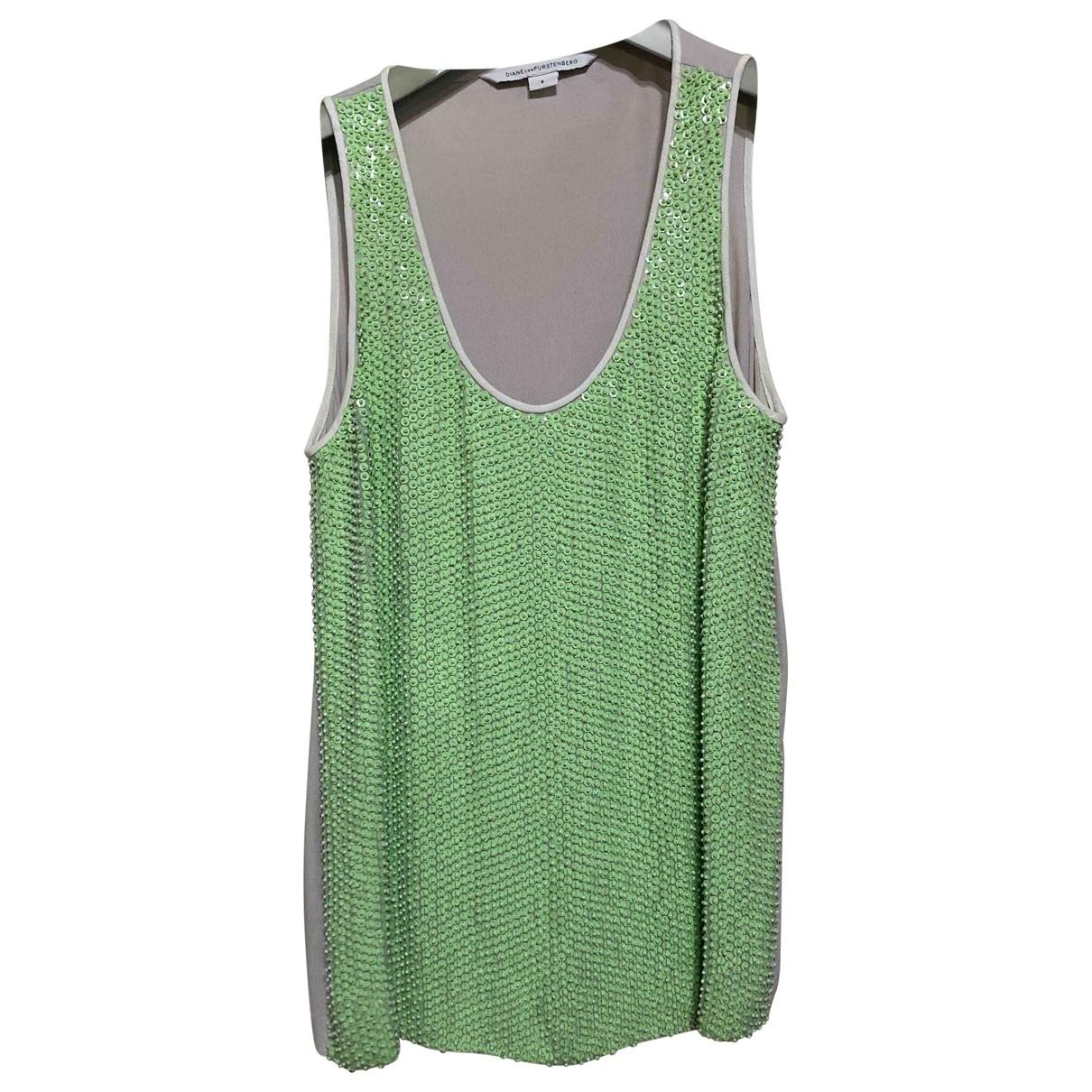 Diane Von Furstenberg \N Green Glitter  top for Women 6 US