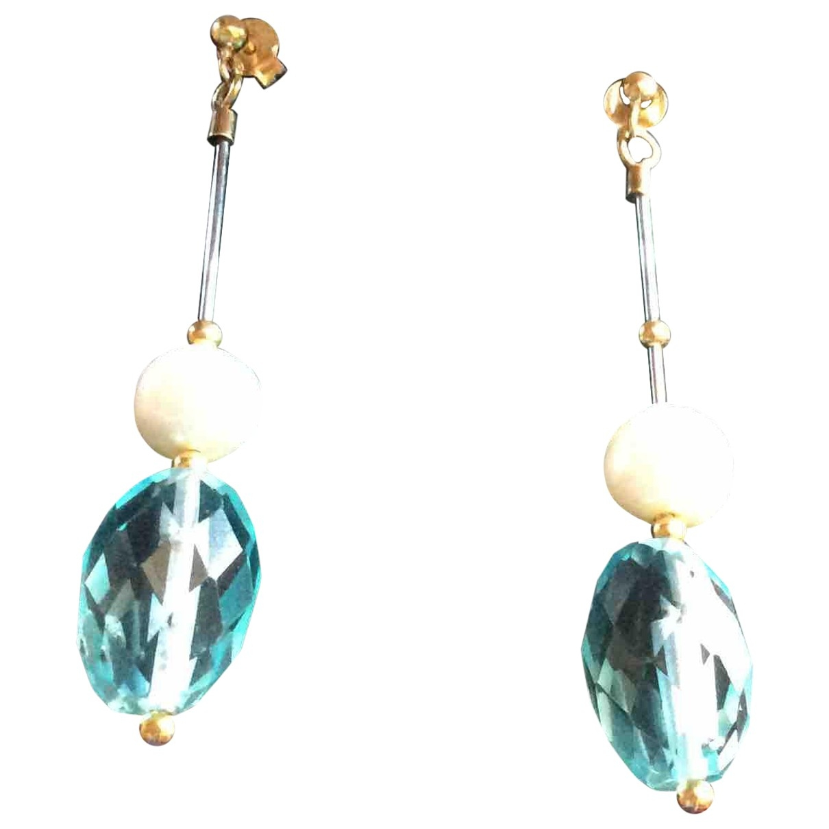 Non Signé / Unsigned \N Yellow gold Earrings for Women \N