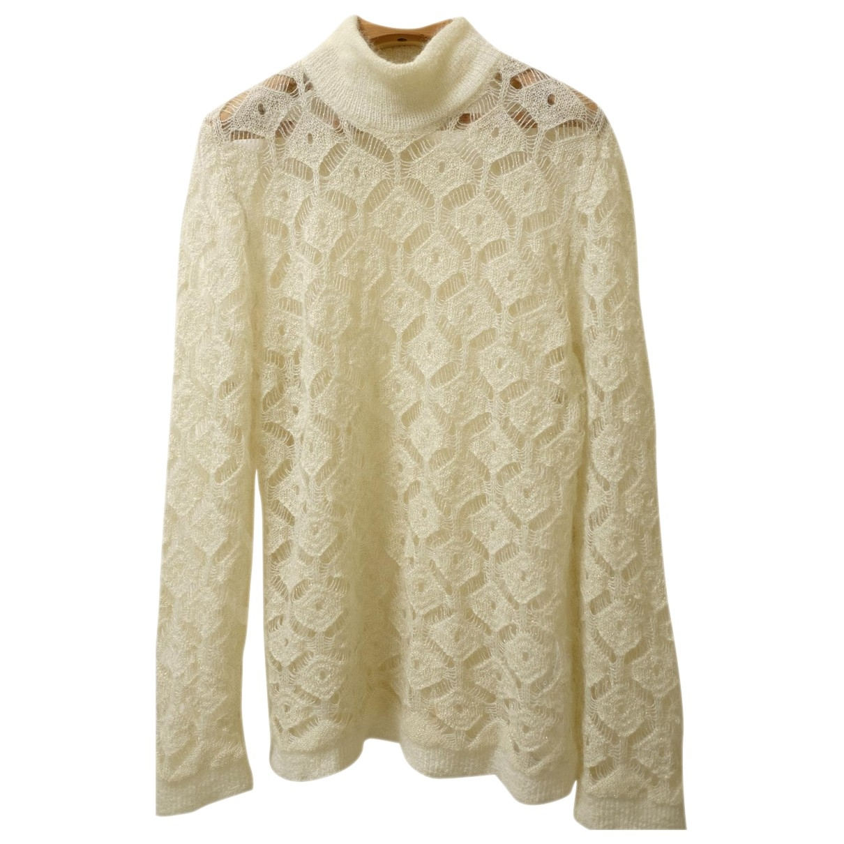 Balmain \N White Wool Knitwear for Women 44 FR
