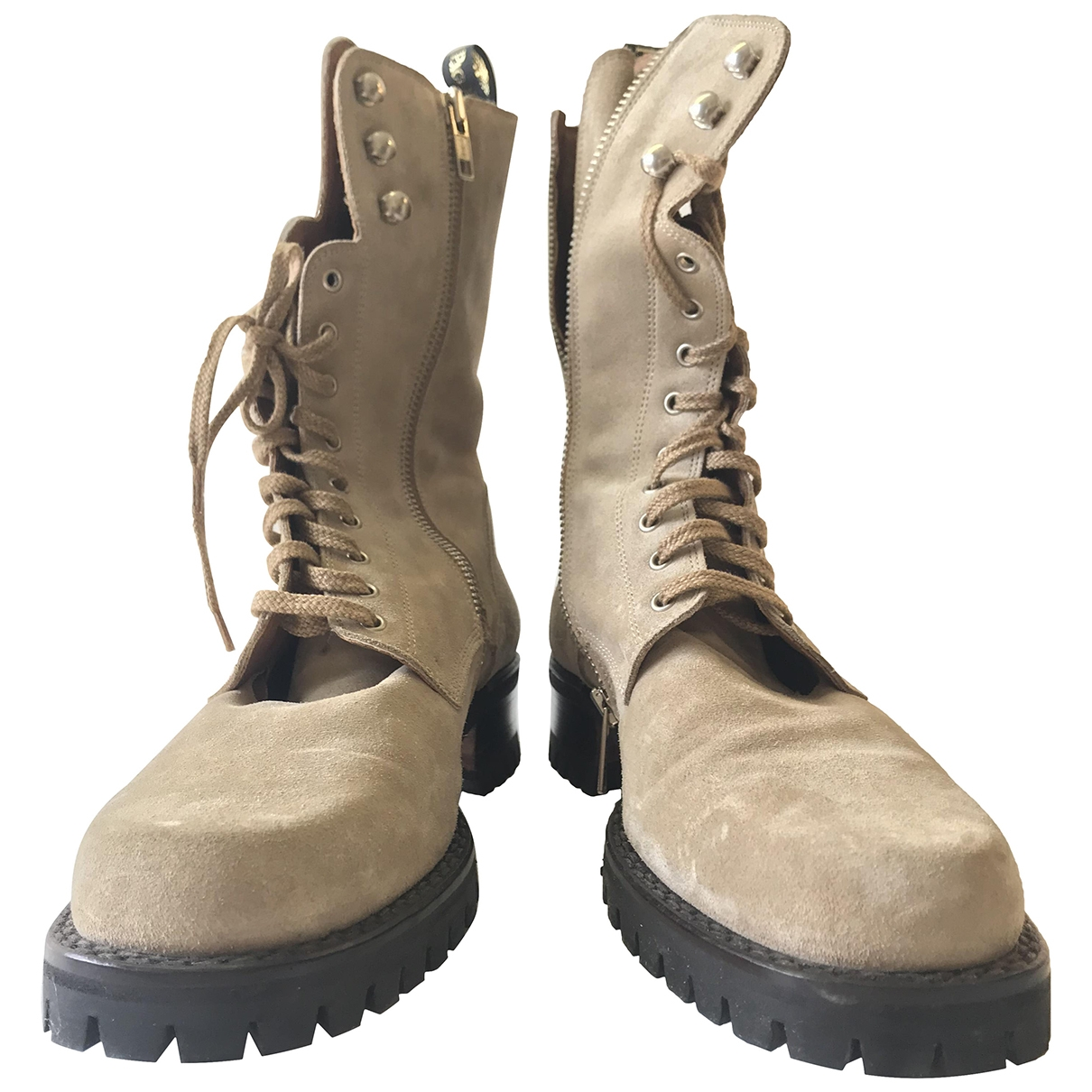 Cesare Paciotti \N Beige Suede Boots for Women 38 EU