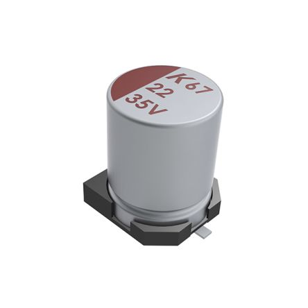 KEMET 68μF Electrolytic Capacitor 63V dc, Surface Mount - A767MU686M1JLAE030 (400)