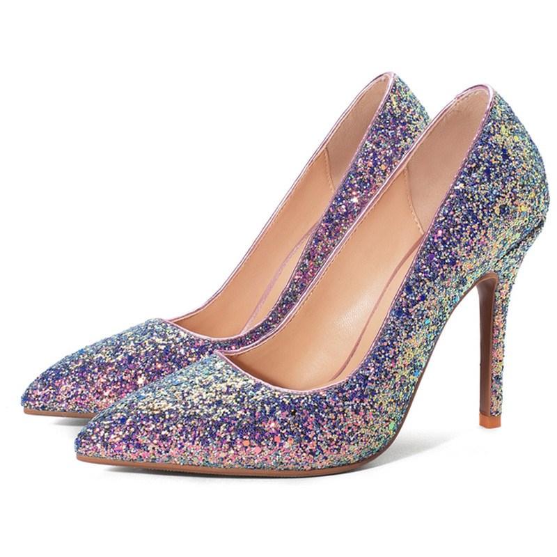 Ericdress Thread Stiletto Heel Pointed Toe Sweet Pumps