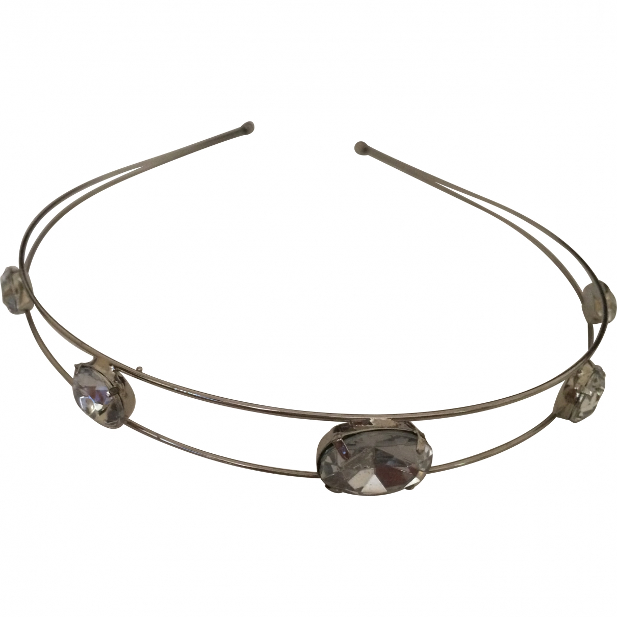 Non Signé / Unsigned \N Silver Metal Hair accessories for Women \N
