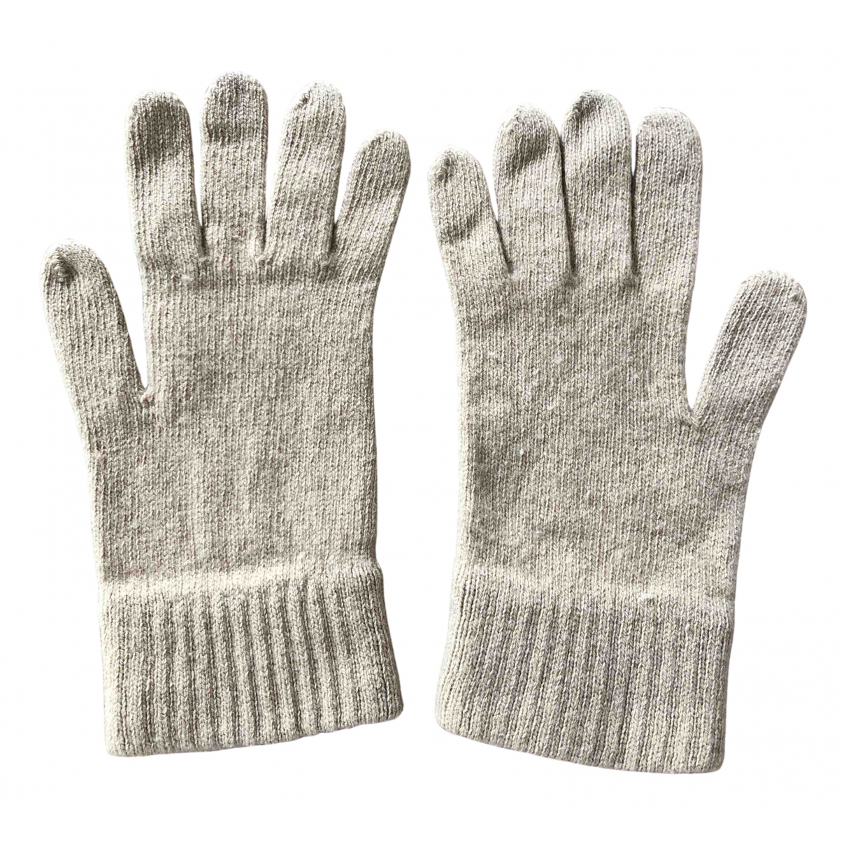 Burberry \N Beige Wool Gloves for Women 8 inches