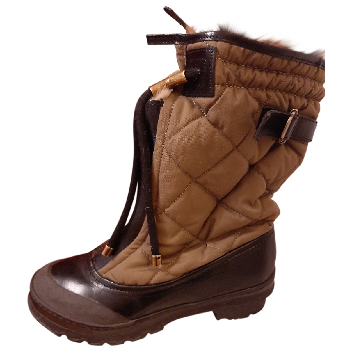 Burberry \N Brown Rubber Boots for Women 37 EU
