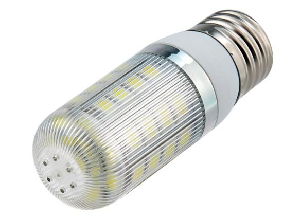 5050-36L-85/265V 7W E27 36x5050SMD White LED Corn Bulb with Lampshade