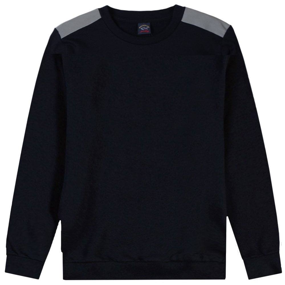 Paul & Shark Kids Elbow Patch Sweatshirt Colour: NAVY, Size: 10 YE