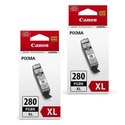 Canon PGI-280XL Original Pigment Black Ink Cartridge High Yield Twin Pack