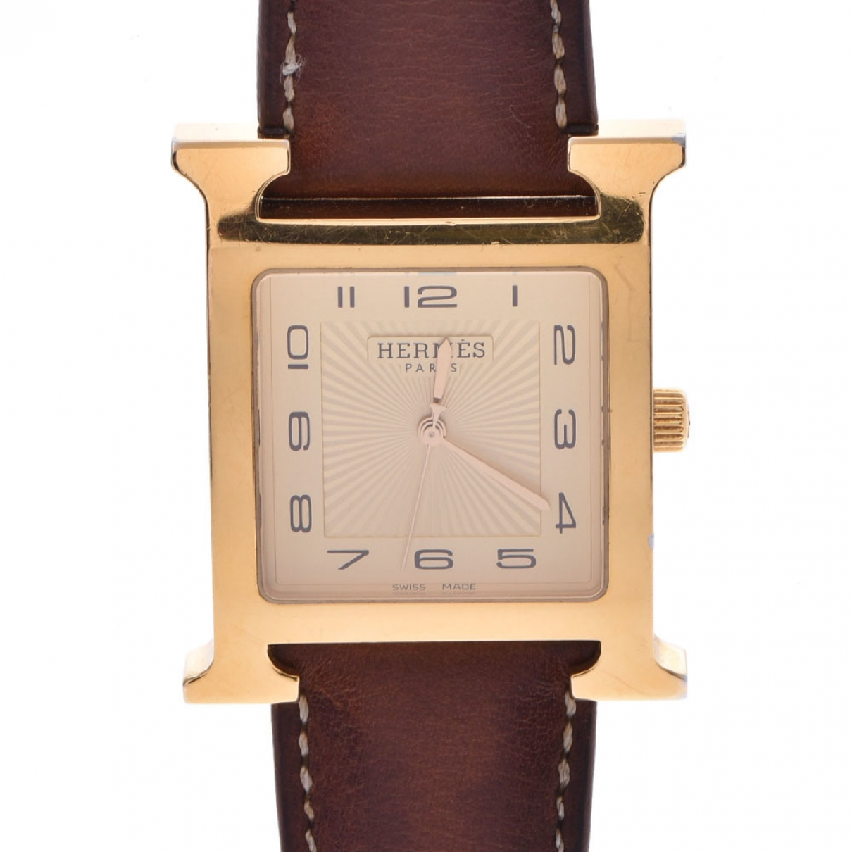 Hermès Heure H Brown Gold plated watch for Men \N