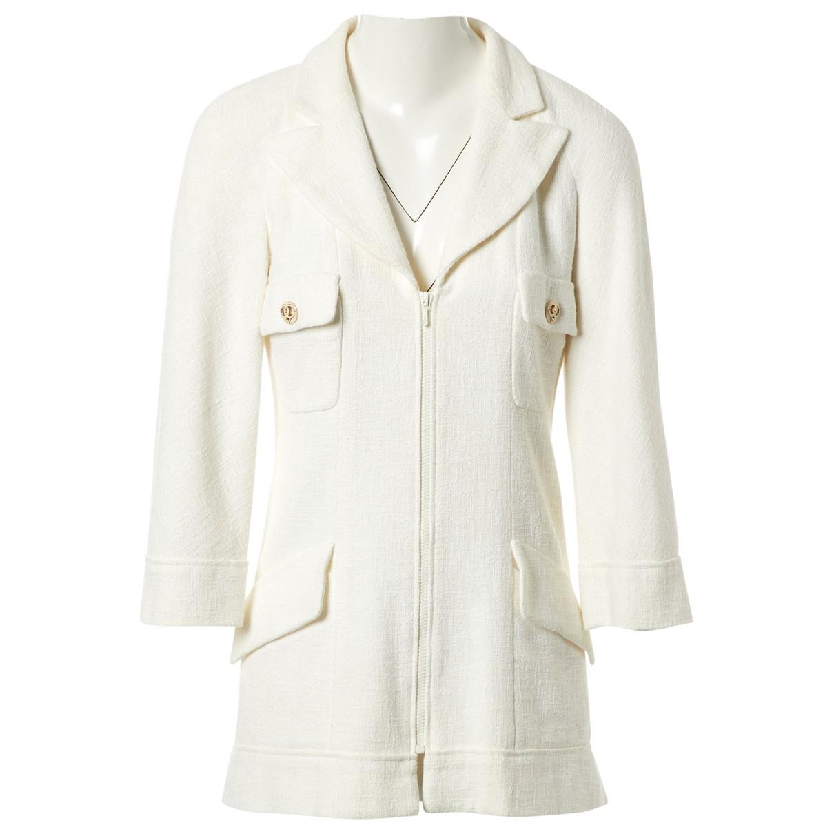 Chanel \N Ecru Cotton coat for Women 38 FR