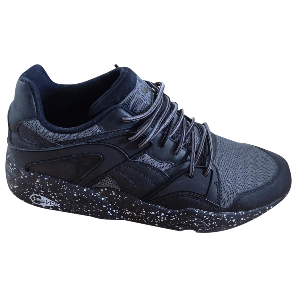 Puma \N Black Cloth Trainers for Men 45 EU