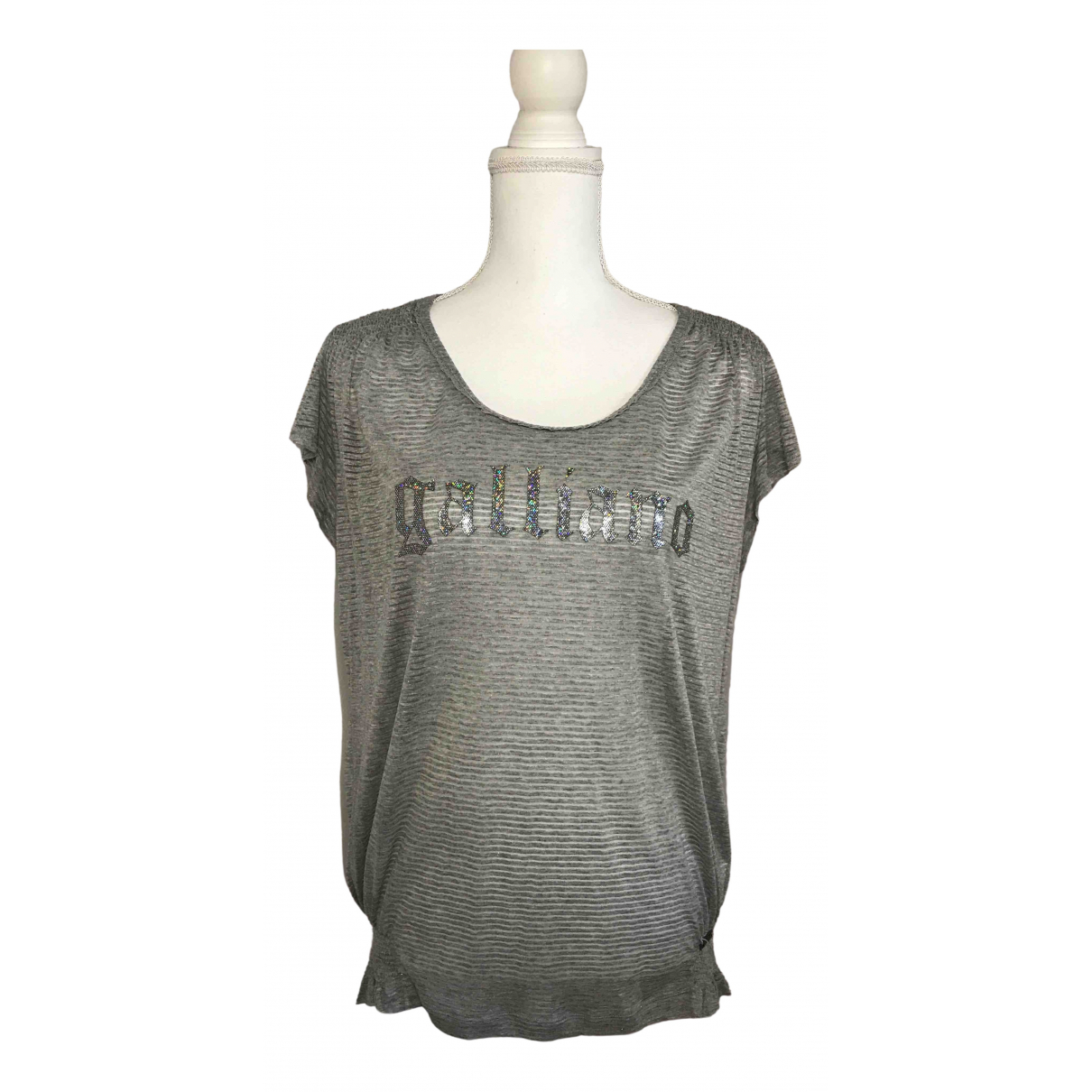 John Galliano \N Grey  top for Women S International