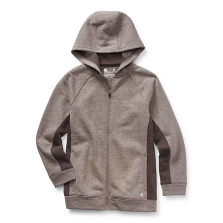 Xersion Cotton Fleece Little & Big Boys Hoodie, Medium (10-12) , Black
