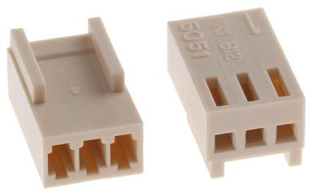 Molex , KK Female Connector Housing, 2.5mm Pitch, 3 Way, 1 Row (10)