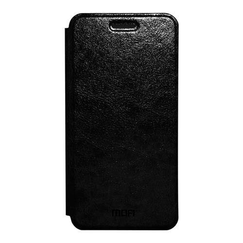 Black Xiaomi Redmi 4A Leather Case MOFI Flip Stand Protective Cover Screen Protector