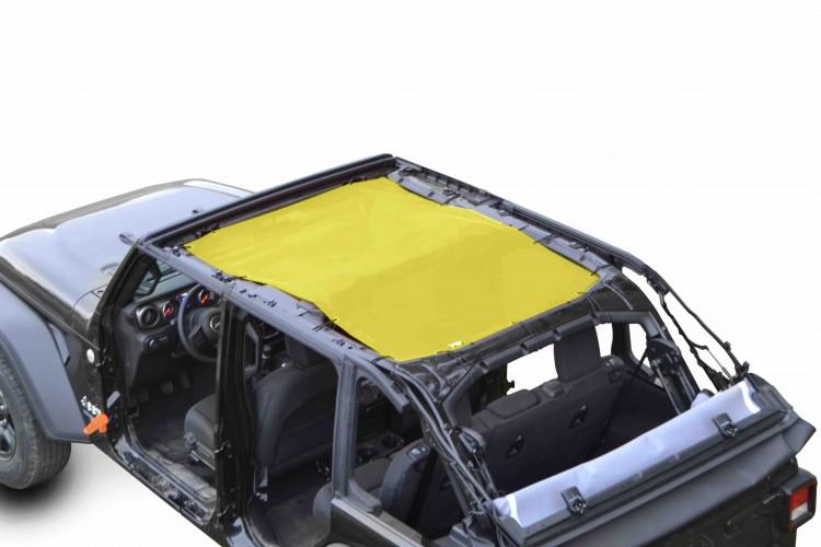 Steinjager J0048113 Tops, Fabric Teddy Wrangler JL 2018 to Present 4 Door Yellow