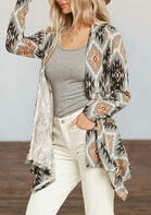 Aztec Geometric Long Sleeve Cardigan