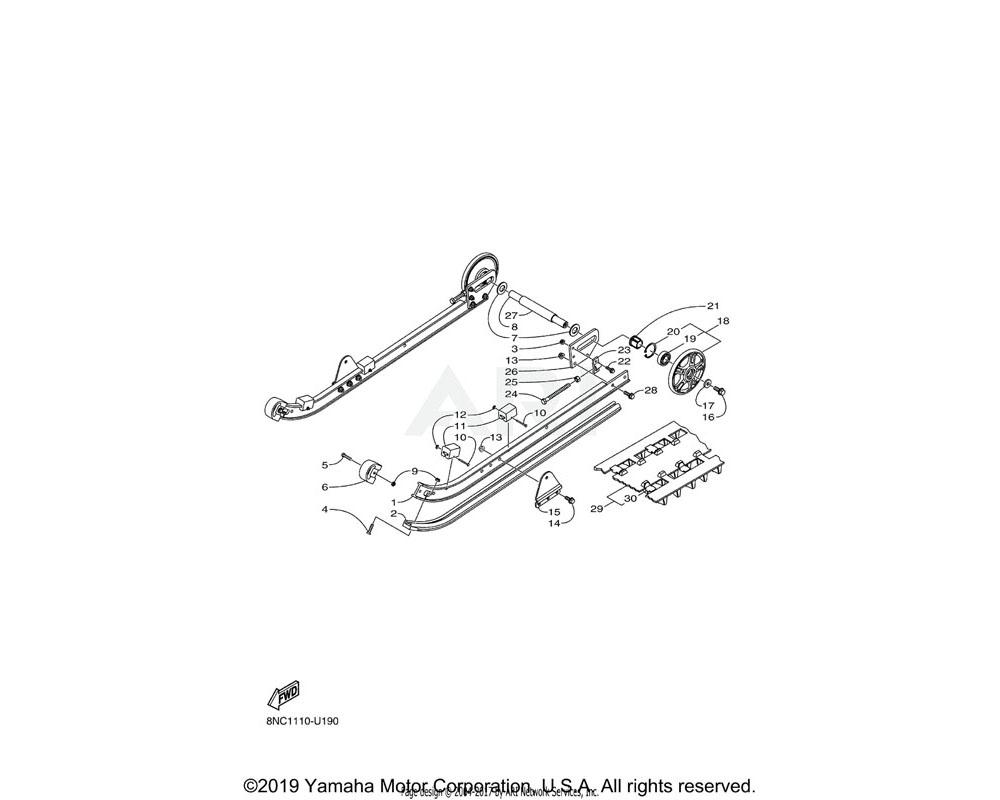 Yamaha OEM 8JM-RA314-10-00 NUT, HEXAGON 3/8-16