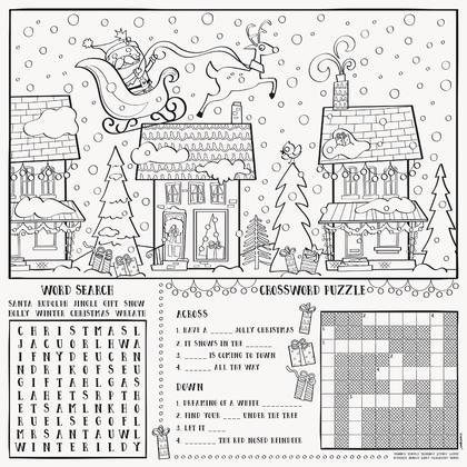 Santa Christmas Coloring Placemats, 8ct