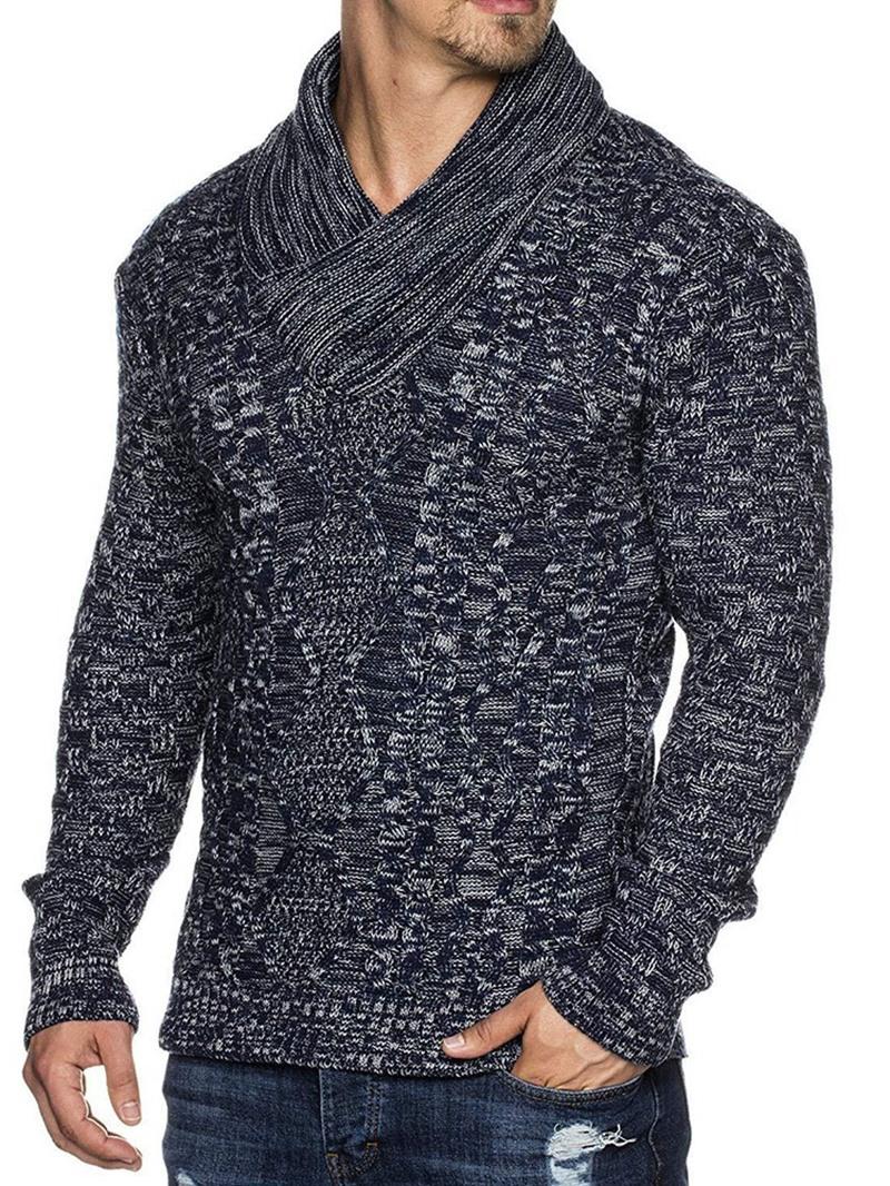 Ericdress Standard Patchwork Slim Fall Sweater
