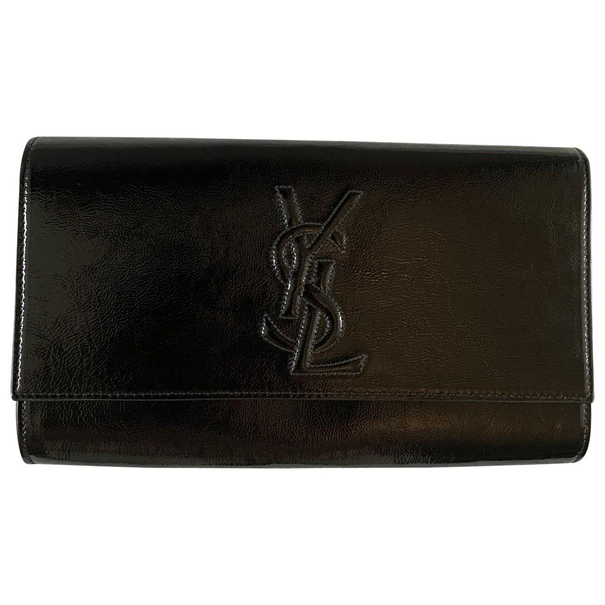 Yves Saint Laurent Belle de Jour Black Patent leather Clutch bag for Women \N