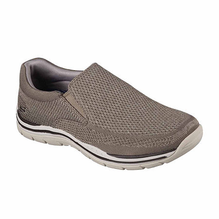 Skechers Relaxed Fit Gomel Mens Casual Slip On Shoes, 8 1/2 Medium, Beige