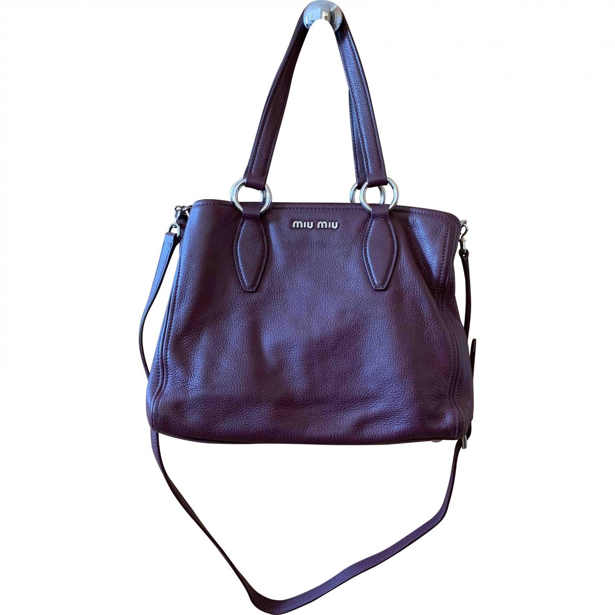 Miu Miu \N Burgundy Leather handbag for Women \N