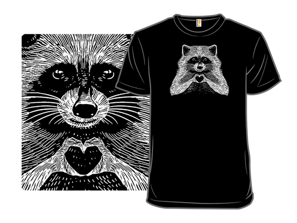 Love Raccoon T Shirt