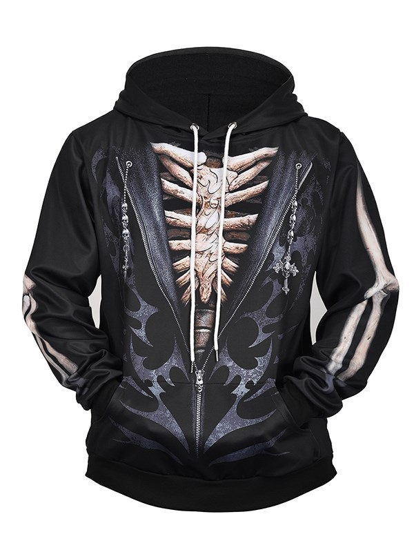 Fashion 3D Digital Printed Halloween Pullover Hoodies Hooded Sweatshirts for Sport and Party