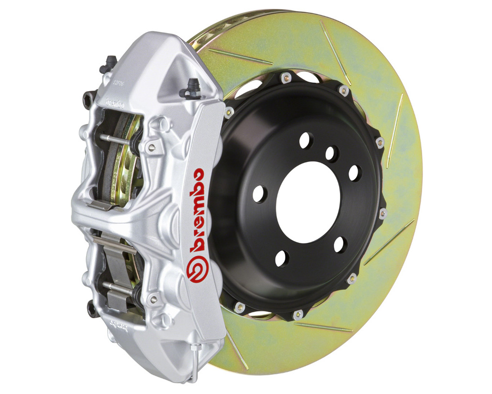 Brembo GT 355x32 2-Piece 6 Piston Silver Slotted Front Big Brake Kit