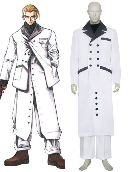 Milanoo Final Fantasy VII Rufus Shinra Cosplay Costume Halloween