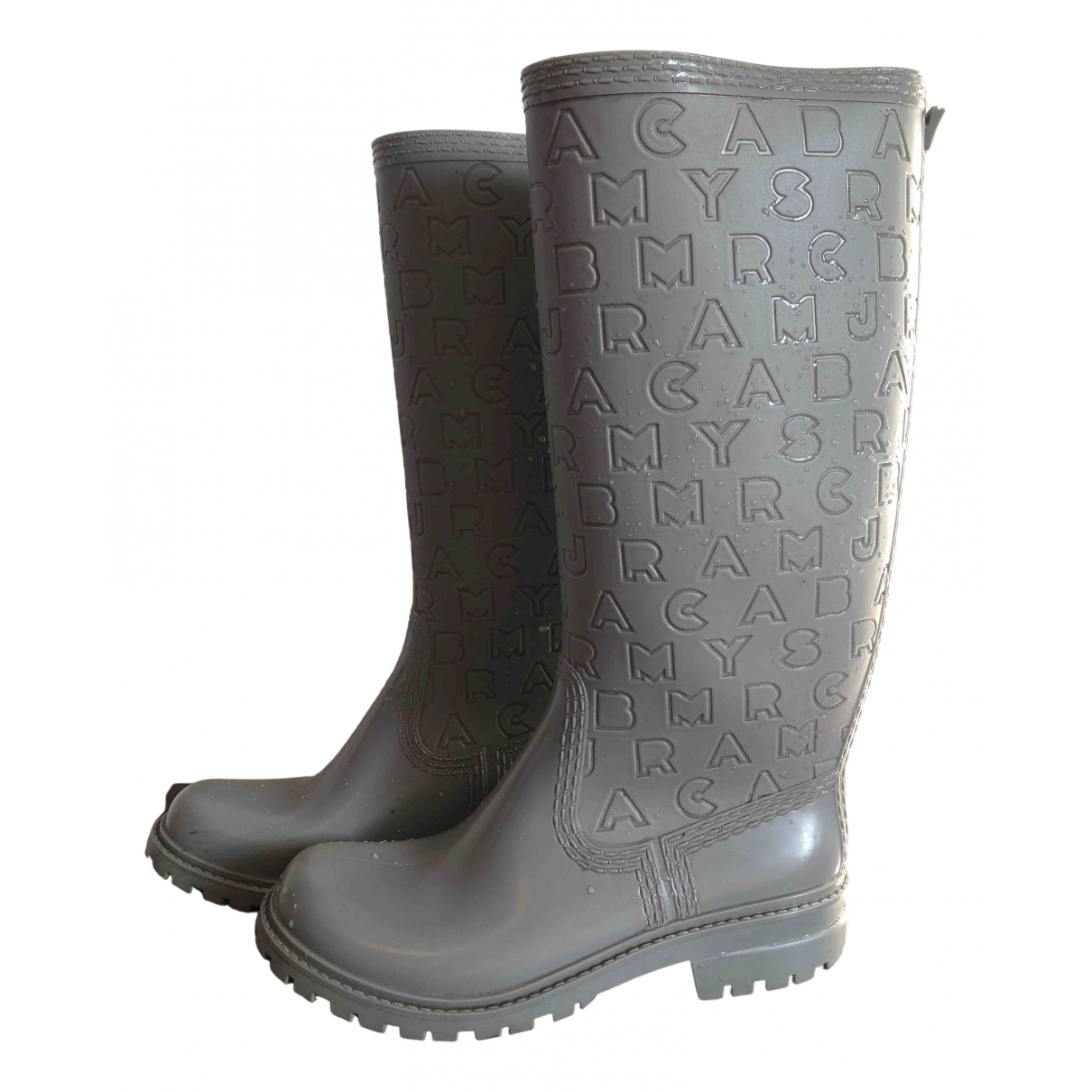 Marc By Marc Jacobs \N Grey Rubber Boots for Women 37 EU