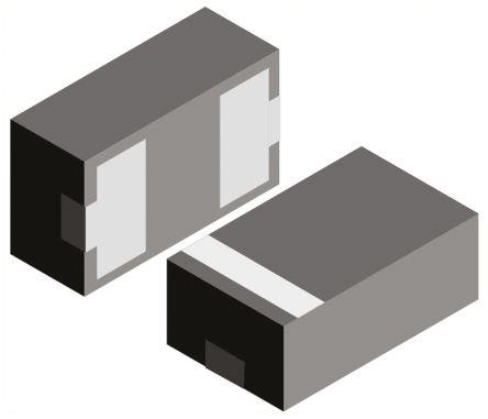 Vishay VCUT0505B-HD1-GS08, Dual-Element Bi-Directional ESD Protection Diode, 56W, 2-Pin LLP1006 (100)