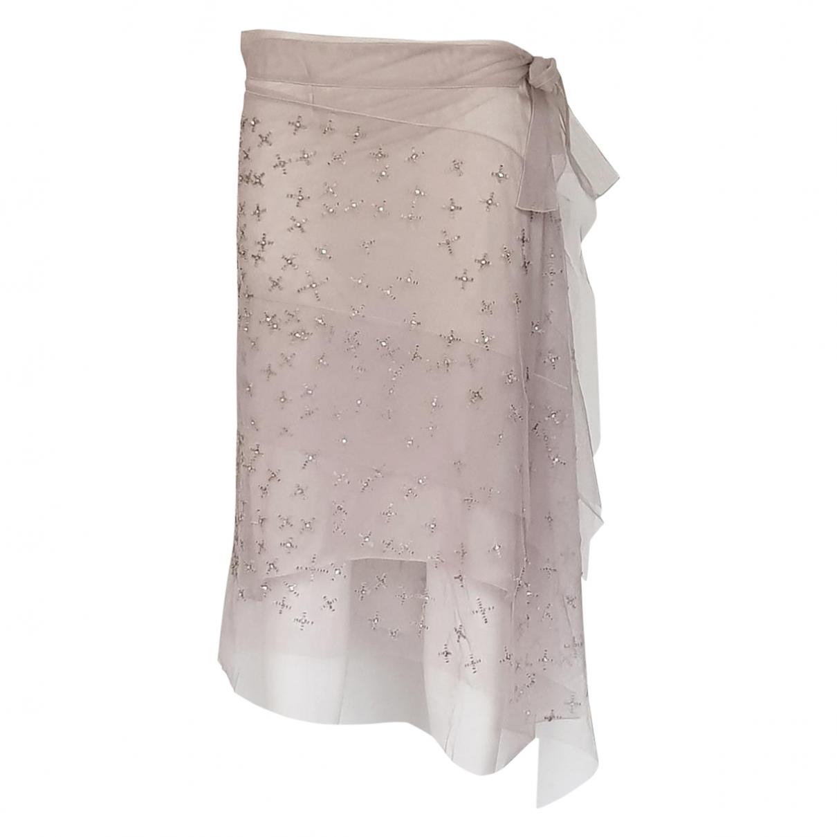 Alberta Ferretti \N Pink Silk skirt for Women 42 IT