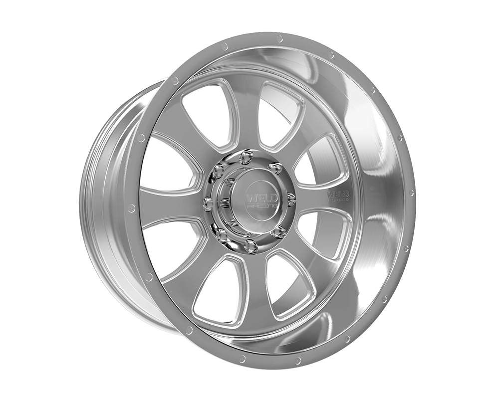 Weld Racing 82D3-24262-519N XT Renegade 24x12 6x120 -51mm Brushed w/Tinted Clear Lip w/Rivets & Text