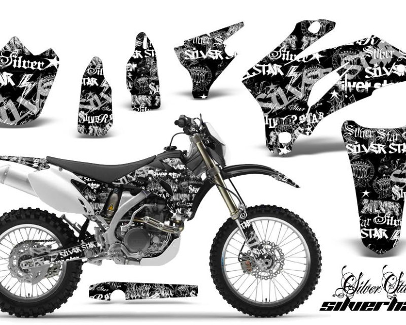 AMR Racing Dirt Bike Graphics Kit Decal Wrap For Yamaha WR250F 2007-2014 WR450F 2007-2011áSSSH WHITE BLACK