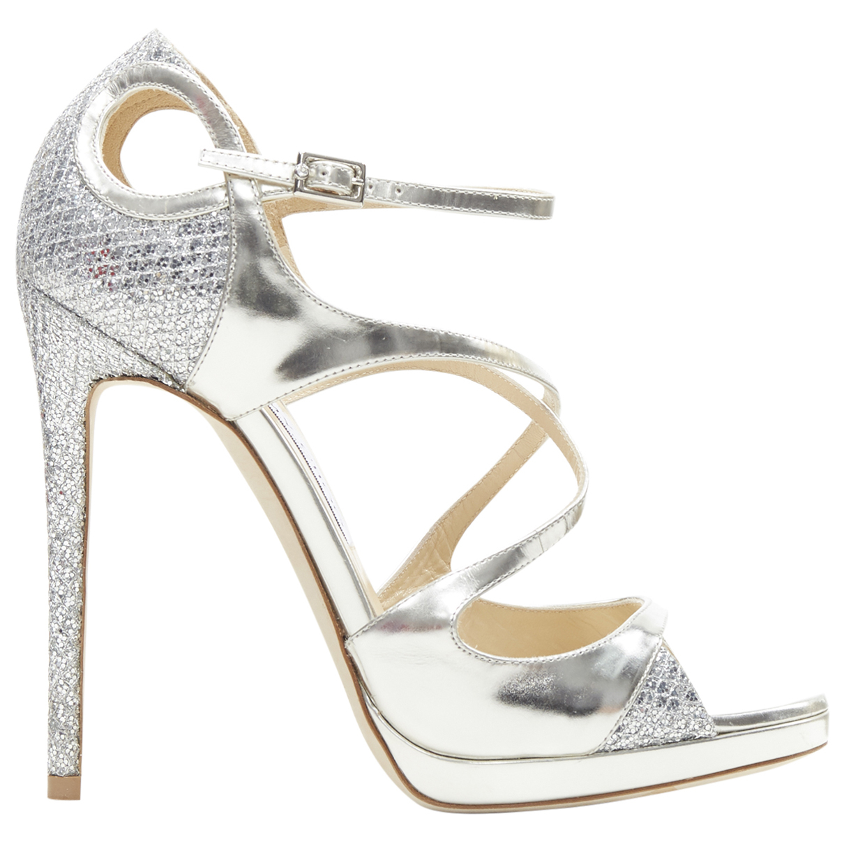 Jimmy Choo \N Silver Leather Sandals for Women 37 EU