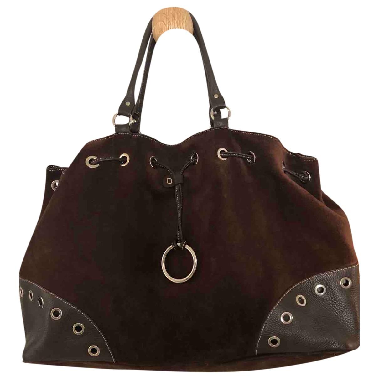 Furla \N Brown Suede handbag for Women \N